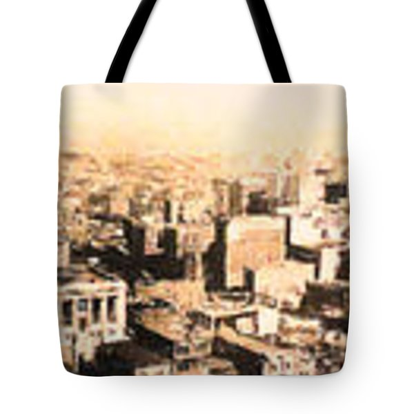 San Francisco Skyline Panorama 1909 From The Ferry Building Through South of Market Tote Bag by Wingsdomain Art and Photography
