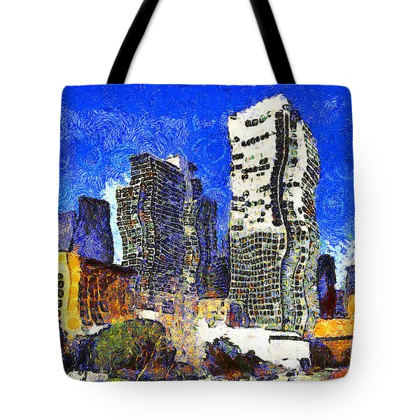 San Francisco Yerba Buena Garden Through The Eyes Of Van Gogh . 7d4262 Tote Bag by Wingsdomain Art and Photography