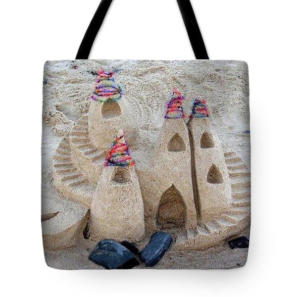 Sand Castle Tote Bag by Karen Elzinga