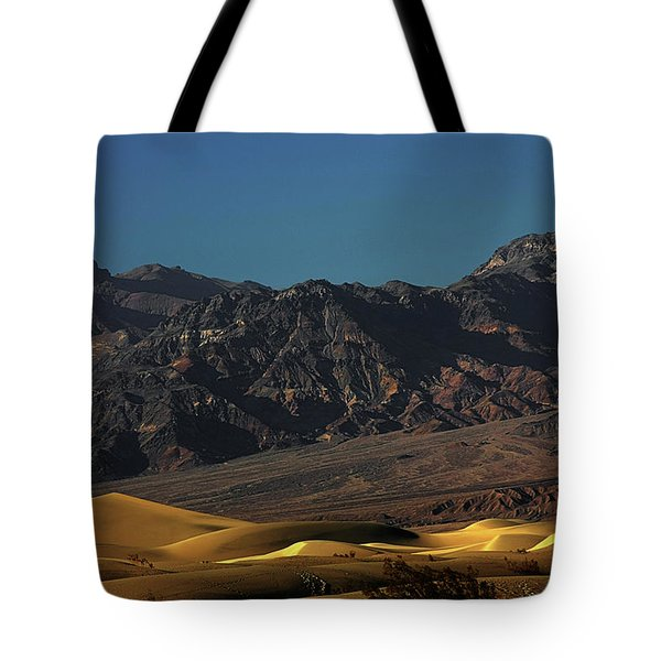 Sand Dunes - Death Valley's Gold Tote Bag by Christine Till