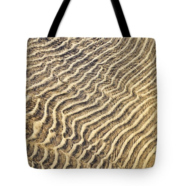 Sand Ripples In Shallow Water Tote Bag by Elena Elisseeva
