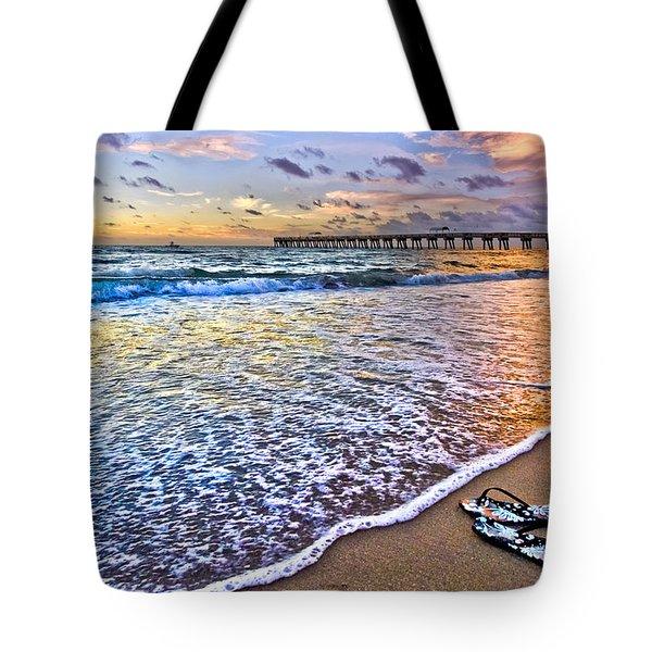 Sandals Tote Bag by Debra and Dave Vanderlaan