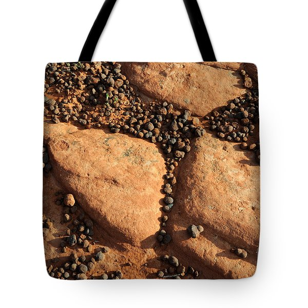 Sandstone And Pebbles Tote Bag by Gary Whitton