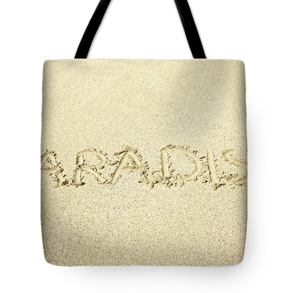 Sandy Paradise Tote Bag by Kicka Witte
