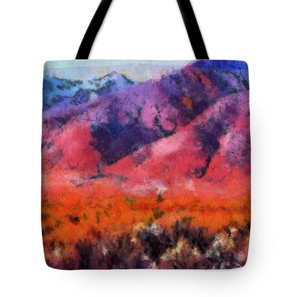 Sangre de Cristos -- Cezanne Tote Bag by Charles Muhle