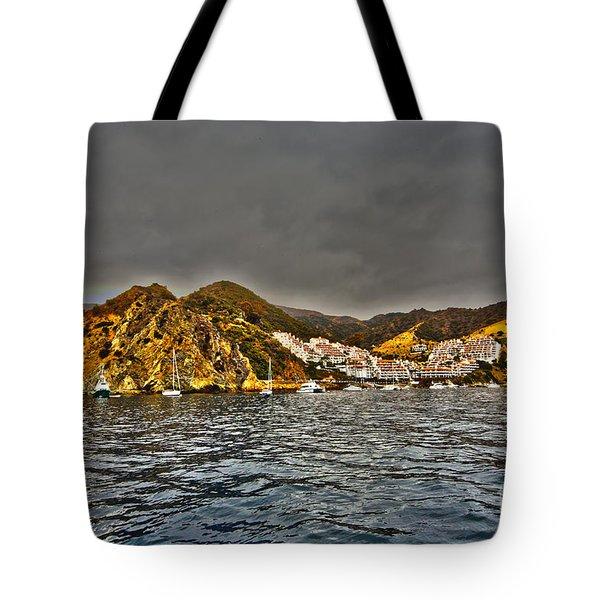 Santa Catalina Island Tote Bag by Cheryl Young