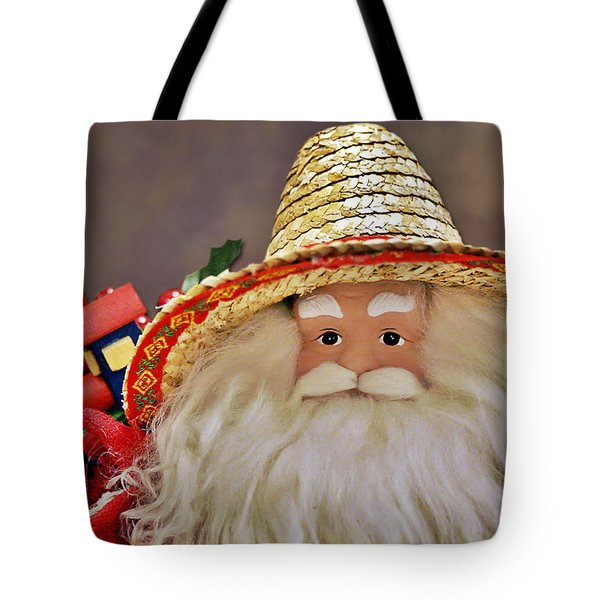 Santa is a gardener Tote Bag by Christine Till