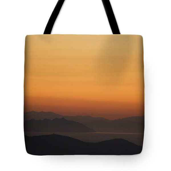 Santo Stefano Coastline At Sunset Tote Bag by Axiom Photographic