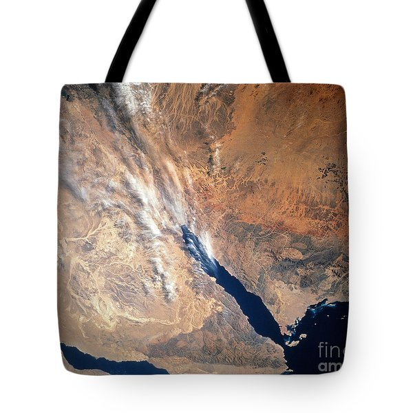 Satellite Image Of Land Tote Bag by Stocktrek Images