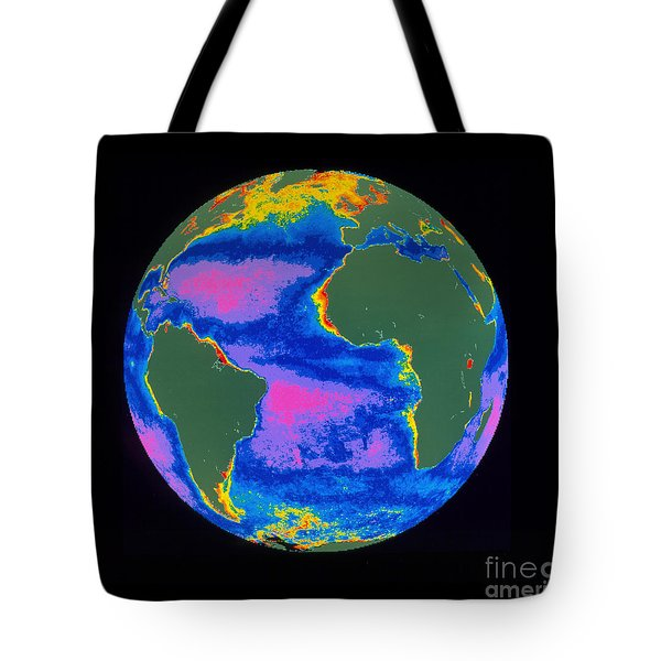 Satellite Image Of The Atlantic Ocean Tote Bag by Dr. Gene Feldman, NASA Goddard Space Flight Center