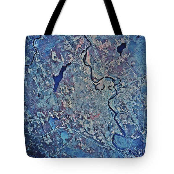 Satellite View Of Concord, New Tote Bag by Stocktrek Images