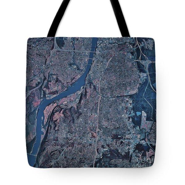 Satellite View Of Little Rock, Arkansas Tote Bag by Stocktrek Images