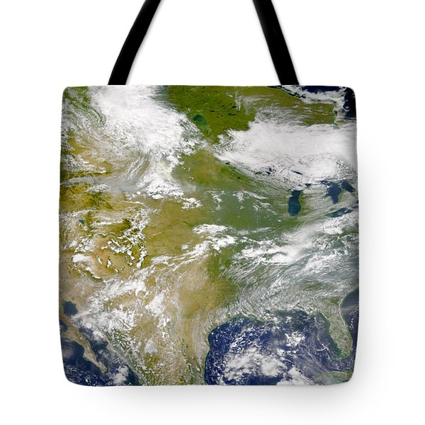 Satellite View Of North America Tote Bag by Stocktrek Images