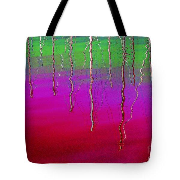 Sausalito Bay California In Color Tote Bag by Ausra Paulauskaite