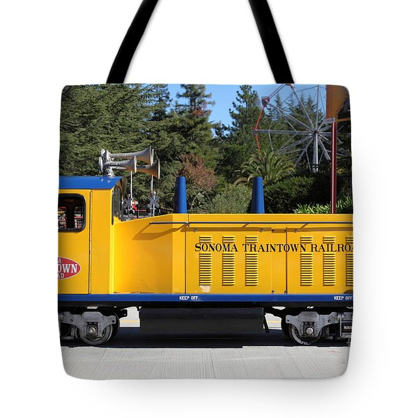 Scale Locomotive - Traintown Sonoma California - 5D19237 Tote Bag by Wingsdomain Art and Photography