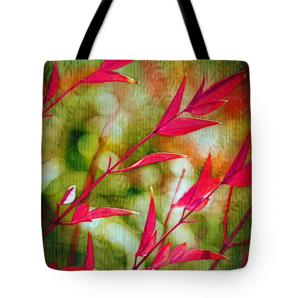 Scarlet Tote Bag by Judi Bagwell