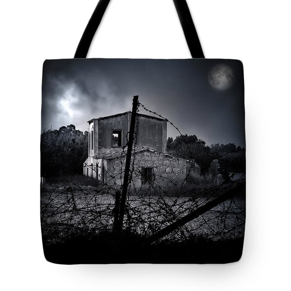 Scary House Tote Bag by Stylianos Kleanthous