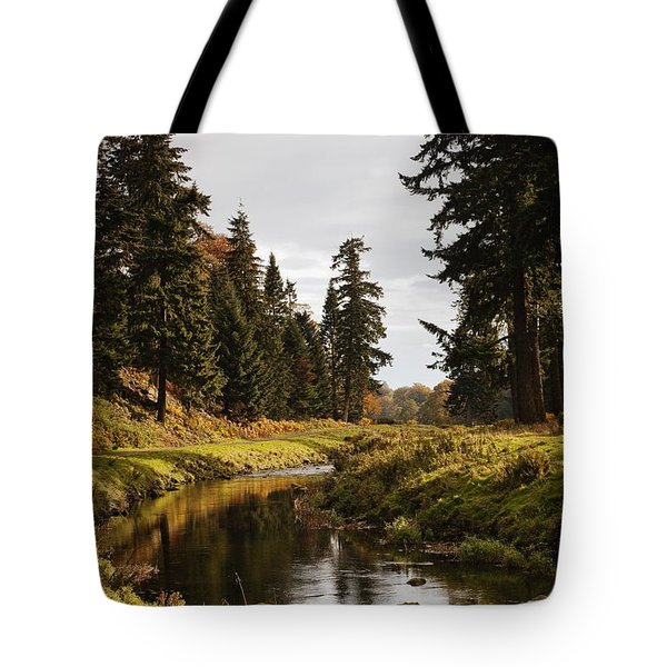 Scenic River, Northumberland, England Tote Bag by John Short