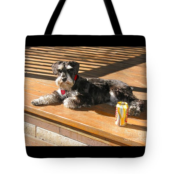 Schnauzer In The Sun Tote Bag by Phyllis Kaltenbach