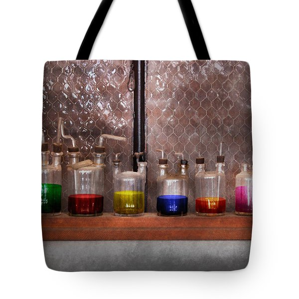 Science - Chemist - Glassware For Couples Tote Bag by Mike Savad