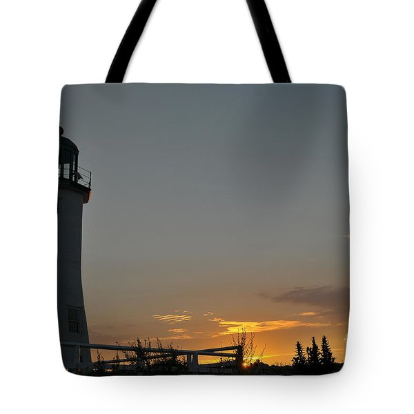 Scituate Light Tote Bag by Catherine Reusch  Daley