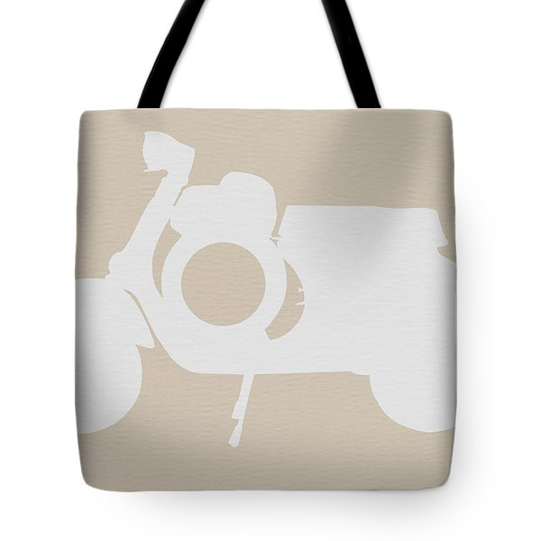 Scooter Brown Poster Tote Bag by Naxart Studio