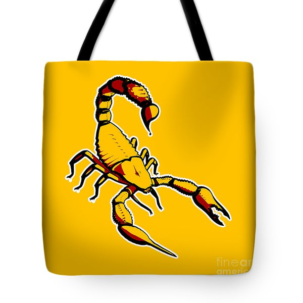 Scorpion Graphic  Tote Bag by Pixel Chimp