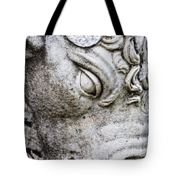 Sculpture Of Bull, Temples Of Apollo Tote Bag by Carson Ganci