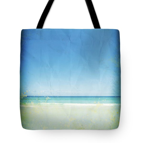 Sea And Sky On Old Paper Tote Bag by Setsiri Silapasuwanchai