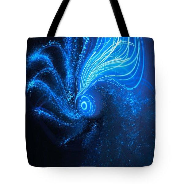 Sea At Night Tote Bag by Linda Sannuti