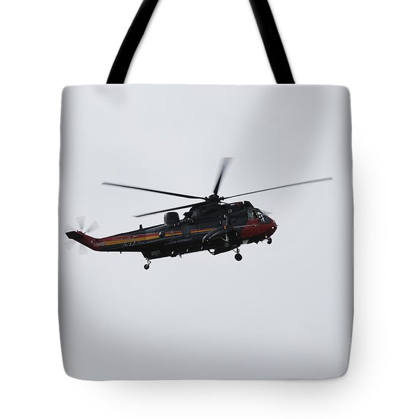 Sea King Helicopter Of The Belgian Army Tote Bag by Luc De Jaeger