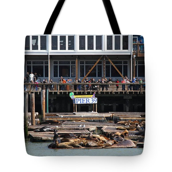 Sea Lions At Pier 39 San Francisco California . 7d14272 Tote Bag by Wingsdomain Art and Photography