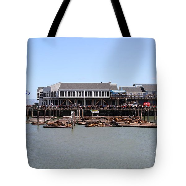 Sea Lions At Pier 39 San Francisco California . 7d14273 Tote Bag by Wingsdomain Art and Photography