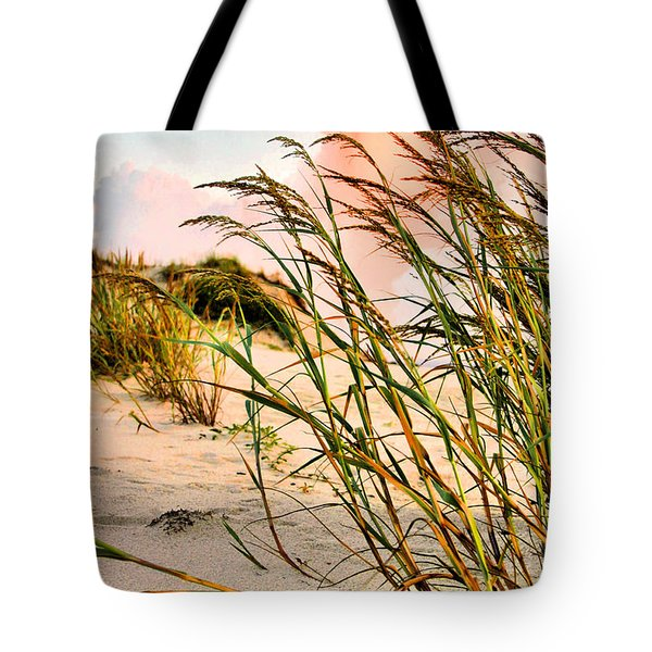 Sea Oats and Dunes Tote Bag by Kristin Elmquist