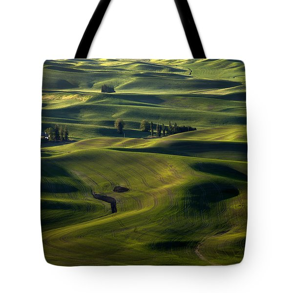Sea Of Green Tote Bag by Mike  Dawson