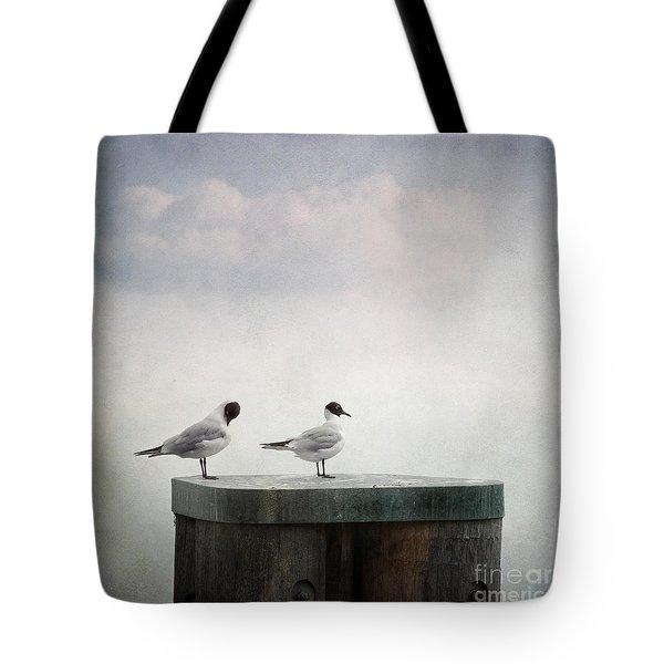 seagulls Tote Bag by Priska Wettstein