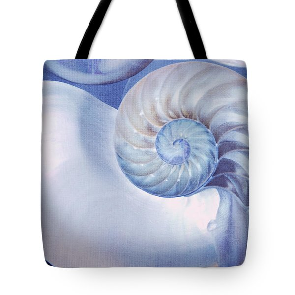 SeaShell. Blue Version  Tote Bag by Jenny Rainbow