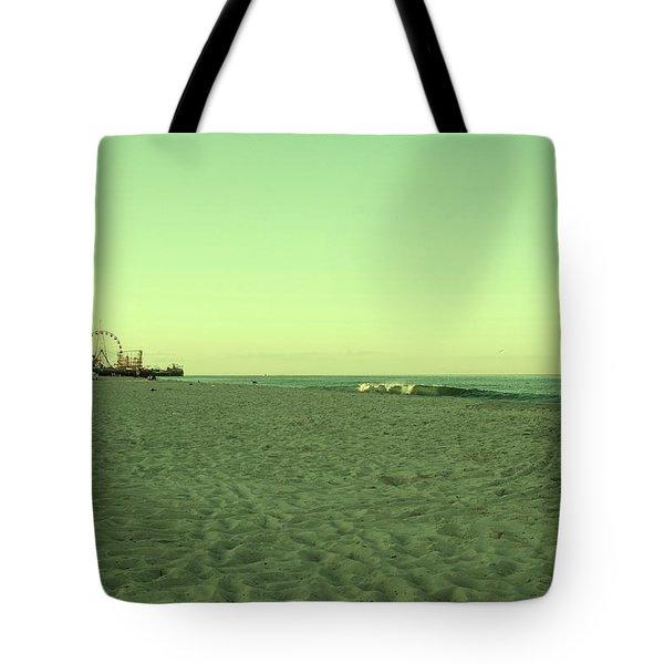 Seaside Park II - Jersey Shore Tote Bag by Angie Tirado