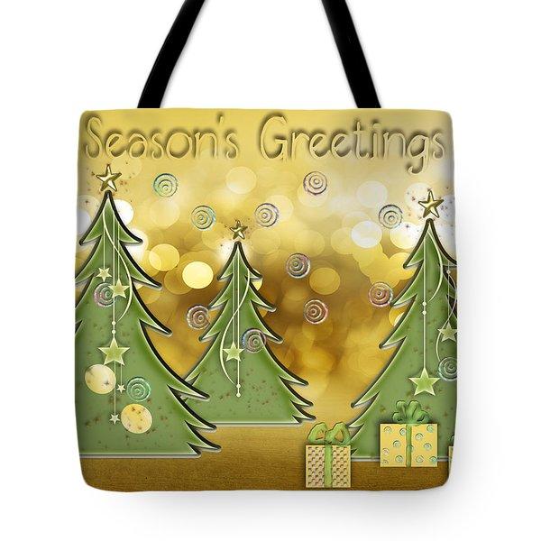 Season's Greetings Tote Bag by Arline Wagner