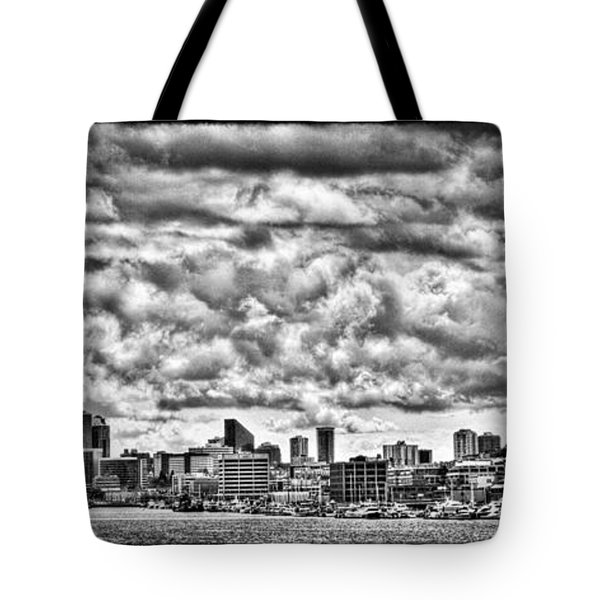 Seattle Cityscape II Tote Bag by David Patterson