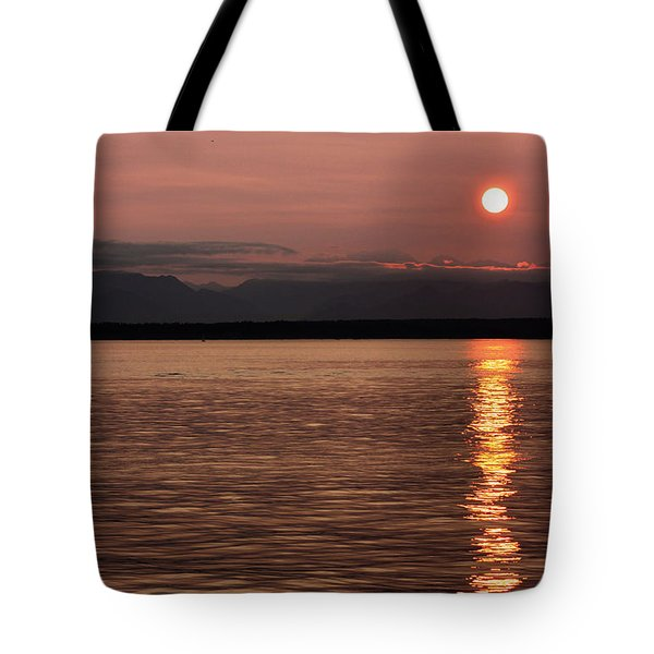 Seattle Sunset Tote Bag by Kristin Elmquist