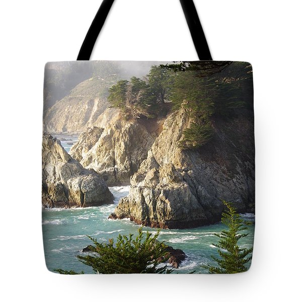 Secluded Big Sur Cove 1 Tote Bag by Jeff Lowe