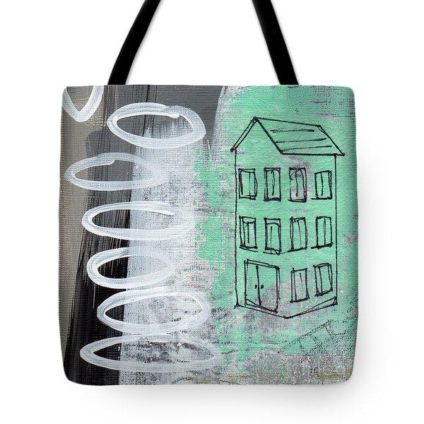 Secret Cottage Tote Bag by Linda Woods