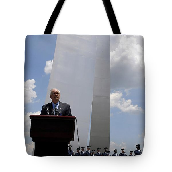Secretary Of The Air Force Salutes Tote Bag by Stocktrek Images