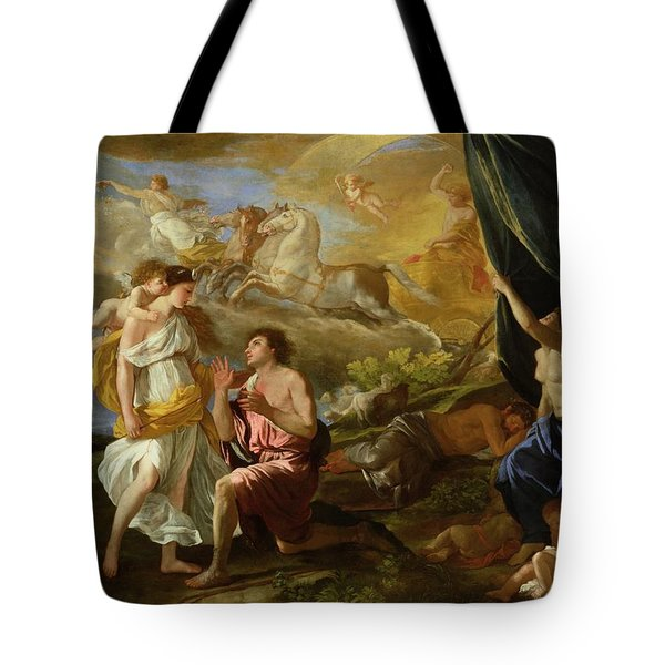 Selene And Endymion Tote Bag by Nicolas Poussin