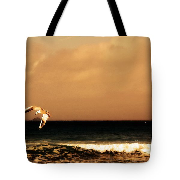 Sennen seagull Tote Bag by Linsey Williams