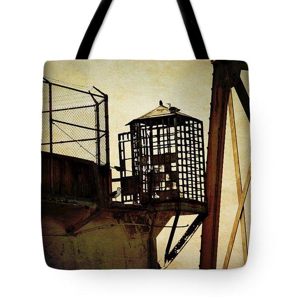 Sentry Box In Alcatraz Tote Bag by RicardMN Photography