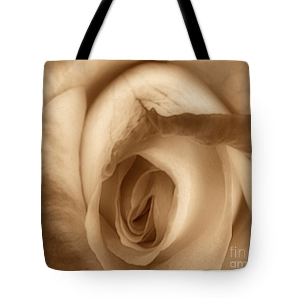 Sepia Petals Tote Bag by Cheryl Young
