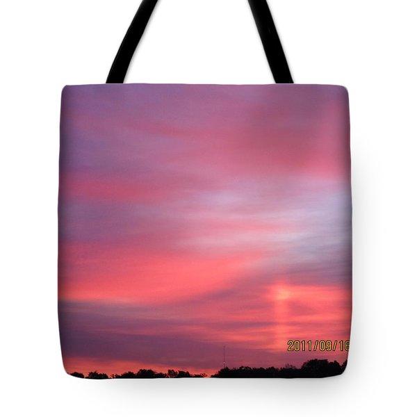 September 16 Sunrise Six Tote Bag by Tina M Wenger