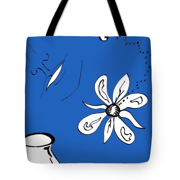 Serenity In Indigo Tote Bag by Mary Mikawoz
